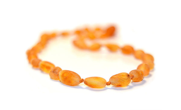 Raw Honey Bean Authentic Baltic Amber Teething Necklace