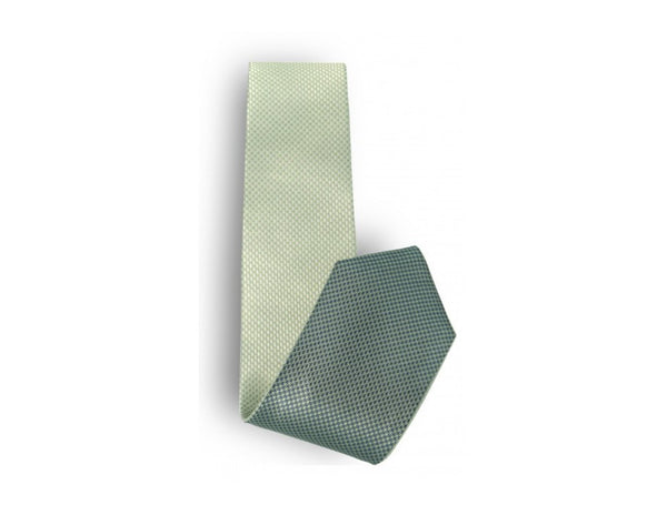 Mint / Green Basketweave Reversible Tie