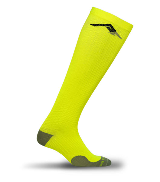 Marathon Compression Socks, Neon Yellow L/XL