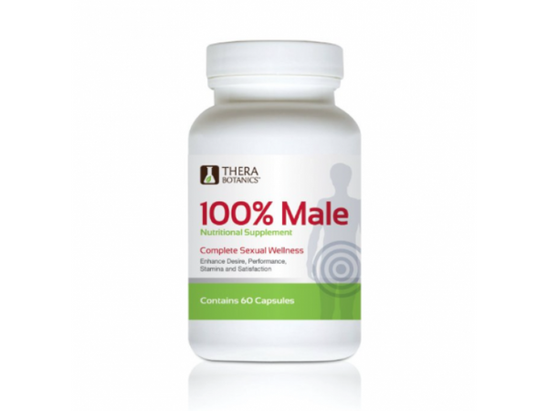 100 Percent Male Nutritonal Supplement By Thera Botanics, the Complete Sexual Wellness Pill, 60 Capsules
