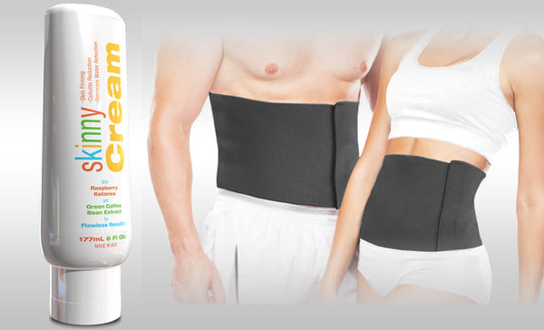 Skinny Cream and Waist Trimmer Belt