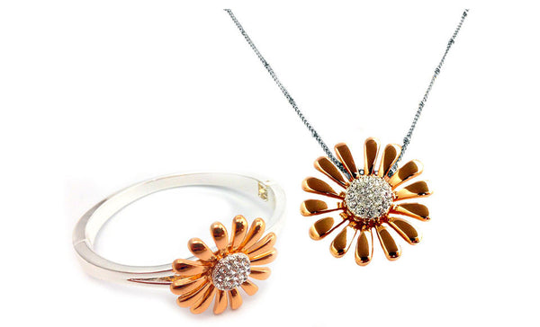 Swarovski Elements Daisy Duo Set