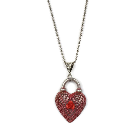 d red heart necklace druzy pendant jewellery necklaces