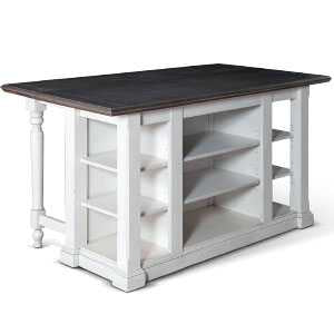 Bourbon County Kitchen Island Table w/ Drop Leaf