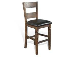"30""H Homestead Ladderback Barstool w/ Cushion Seat"