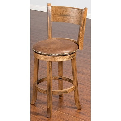"24"" SEDONA STOOL RUSTIC OAK FINISH"