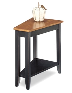 Black w/Red Rub Base Wedge Table