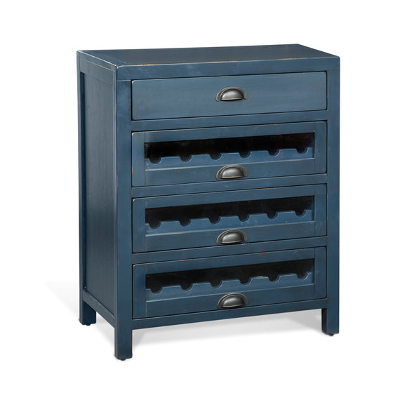 Fountain Pen Blue Server & Single Wine Racks