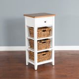 White & Natural Storage Rack