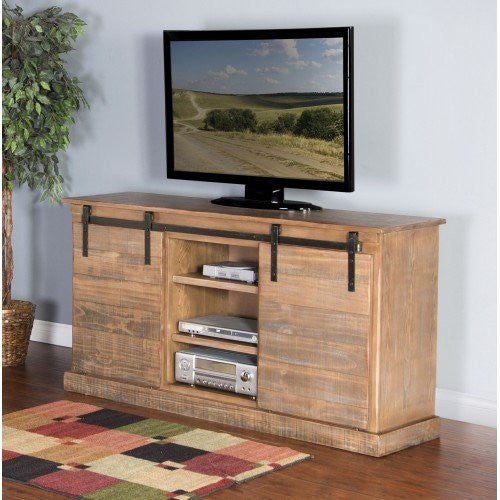 Driftwood Barn Door TV Console