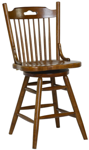 "24"" Farmhouse Swivel Barstool	17"" x 23-1/2"" x 27-3/4""H"