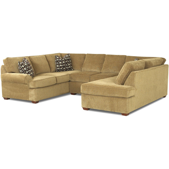 Troupe Sectional in fabric by Klaussner