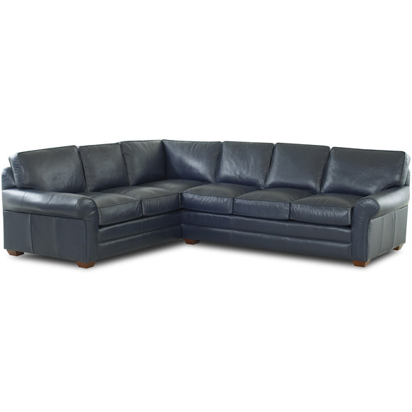 Troupe Sectional in leather by Klaussner