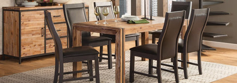 Alpine Rectangular Dining Set, Table and 6 Chairs