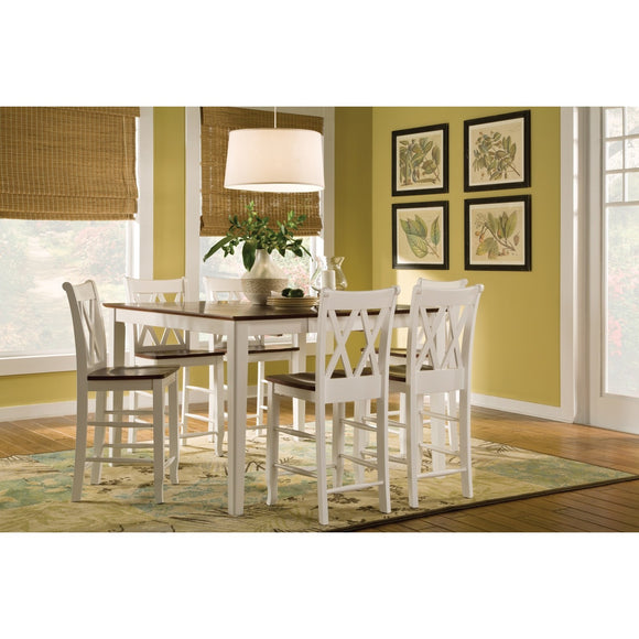 Butterfly Leaf Table with Shaker Gathering legs and (6) 24