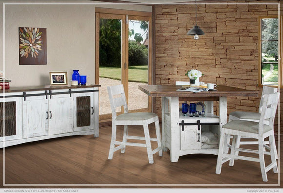 Pueblo White Counter Height Dinning Collection