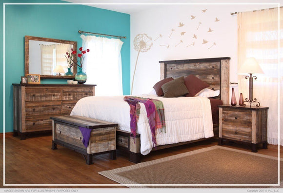 Antique Multicolor Bedroom Collection