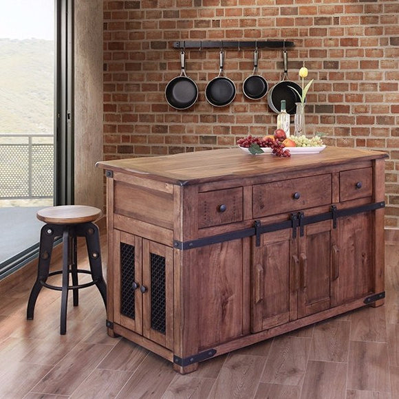 Barn-door Kitchen island, Parota Collection