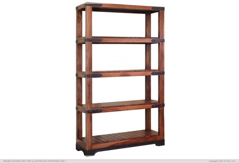 "70"" Bookcase w/4 Wood Shelves"