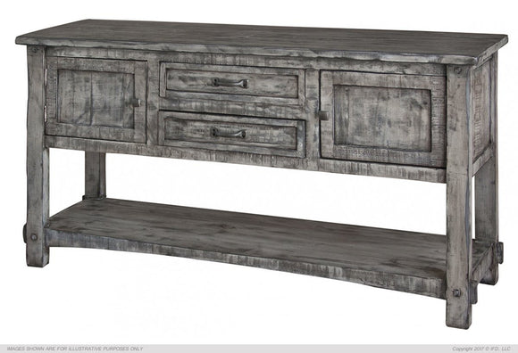 Sofa Table w/2 Drawers, 2 Doors