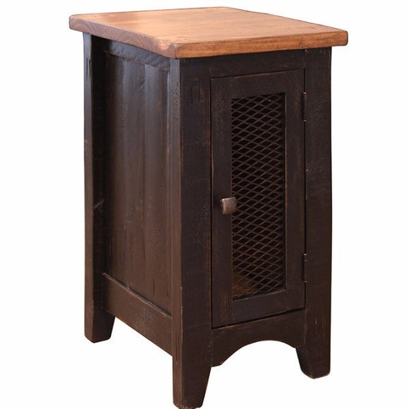 Chairside Table with 1 Mesh door