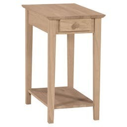End Table W/ Drawer Solid Wood