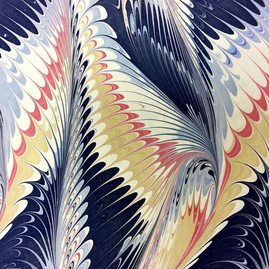Beautiful Paper Marbling by the Victoria Paper Company