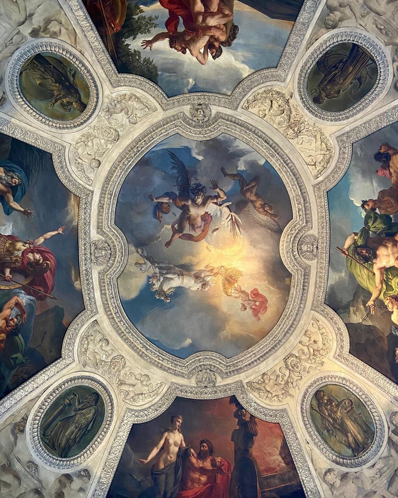 Decorated Ceiling at the Louvre