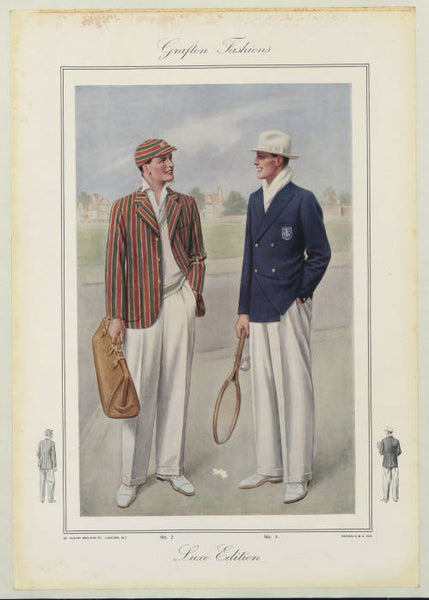 1930s tennis club outfits, inspiration for Nomad Creative Works, photo courtesy of the Thomas J Watson library