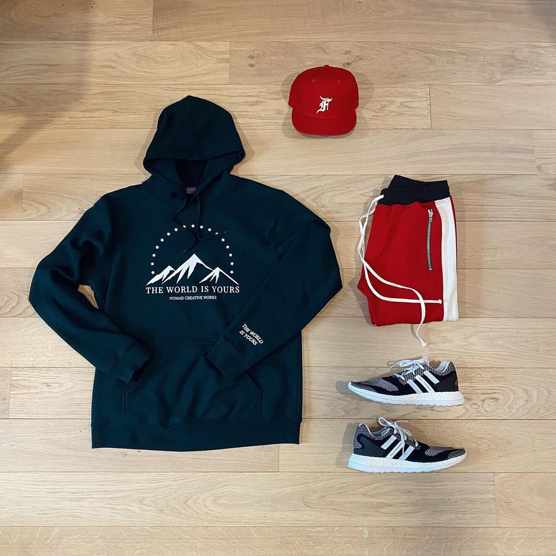 Mountain View Hoodie x Justin Rigney & Fear of God Grid Layout
