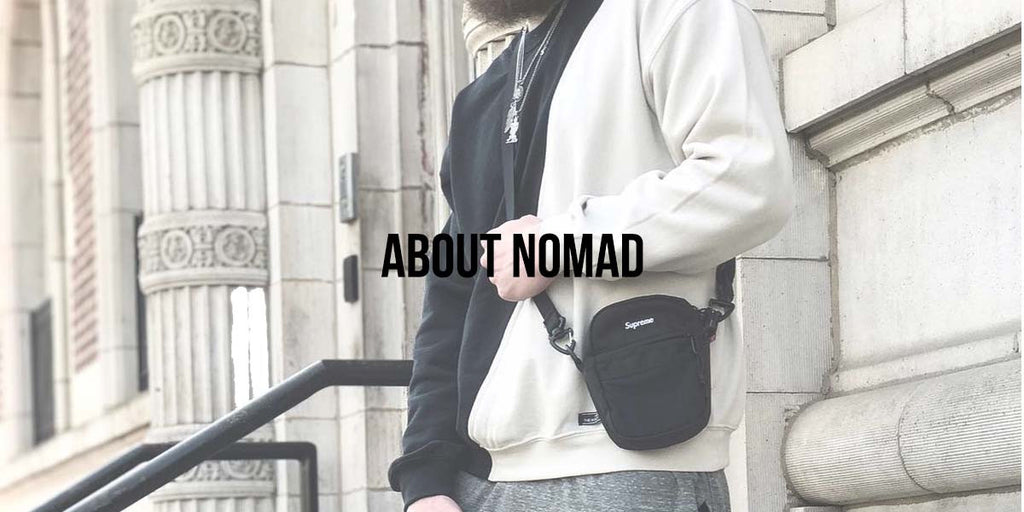 About us and what we do at Nomad. Travel themed streetwear.