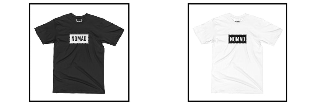 Nomad Worldwide Box Logo Tee in Black and White
