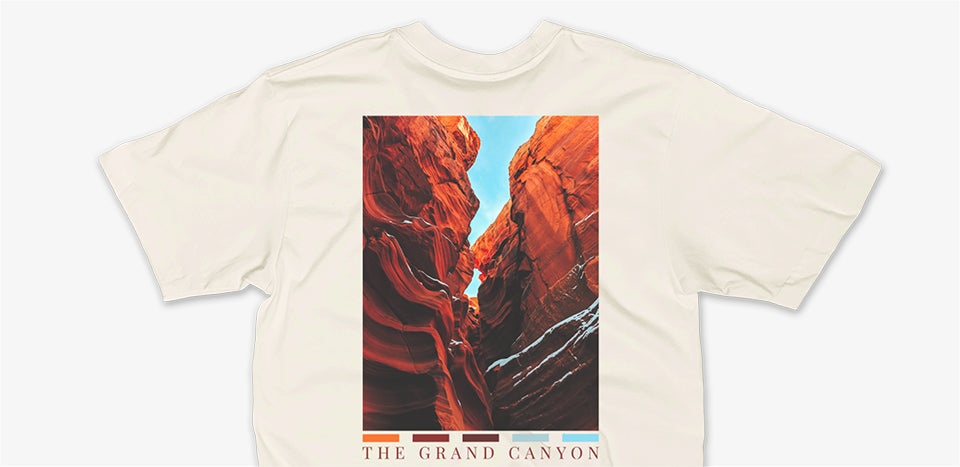 Grand Canyon T-Shirt by Nomad Creative Works, part of the Natural Landmarks collection.