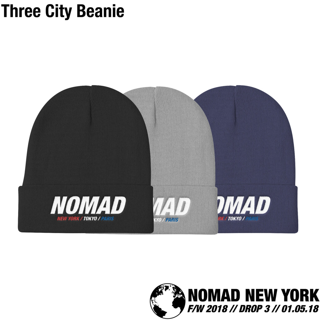 The Three City Beanie From The Third Installment Of The Nomad Fall / Winter 2018 Collection