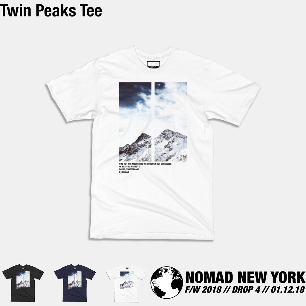 The Twin Peaks Tee from Part 4 of Nomad Fall / Winter 2018