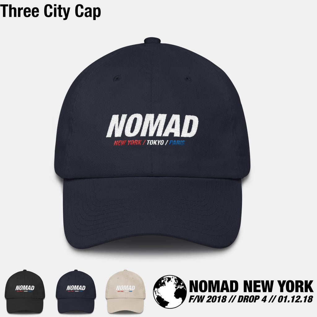 The Three City Cap Tee from Part 4 of Nomad Fall / Winter 2018