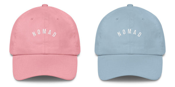 Nomad New York Summer 2017 Pastel Hats in Sapphire and Pink.