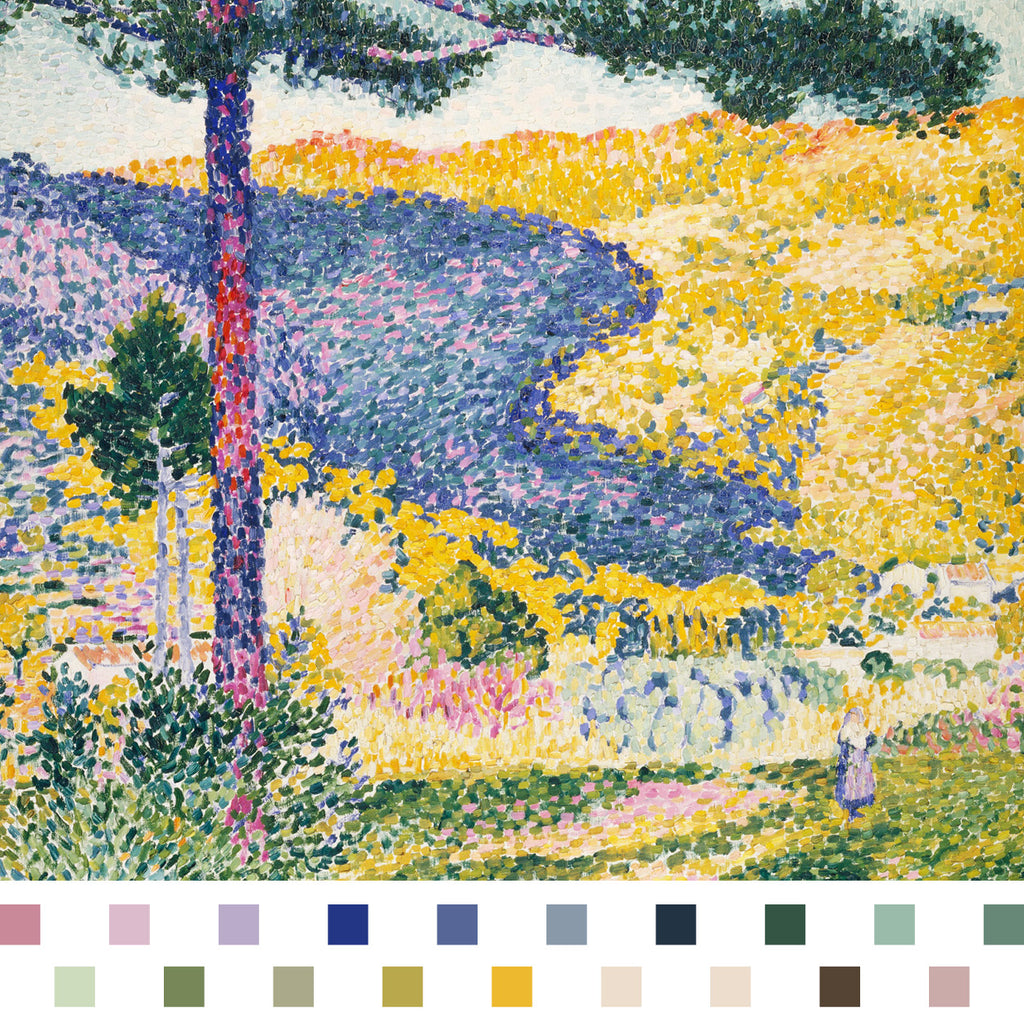 Valley With Fir by Henri Edmond Delacroix