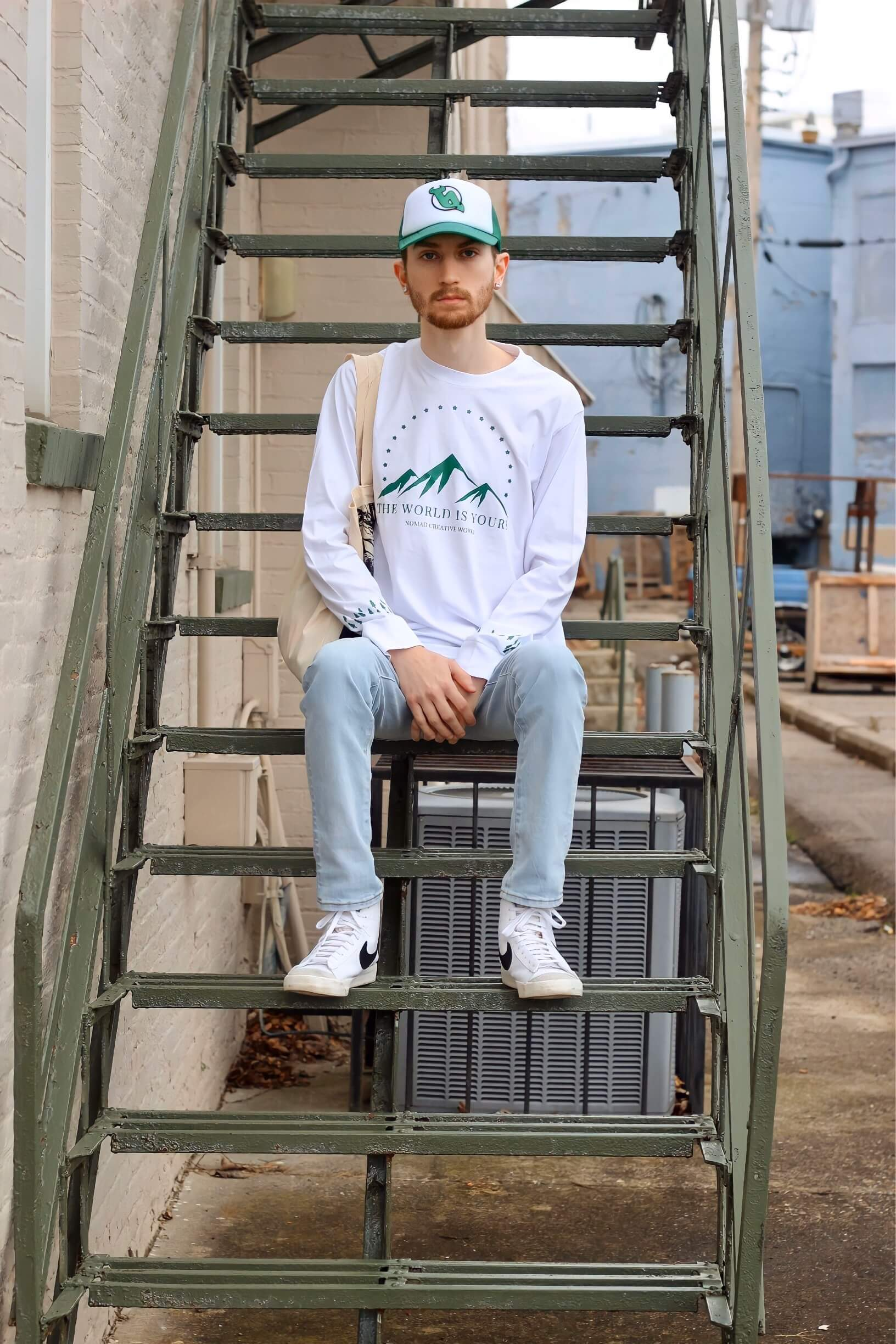 Aaron Seelig for Nomad Creative Works featuring the Mountain View Long Sleeve T-Shirt 3
