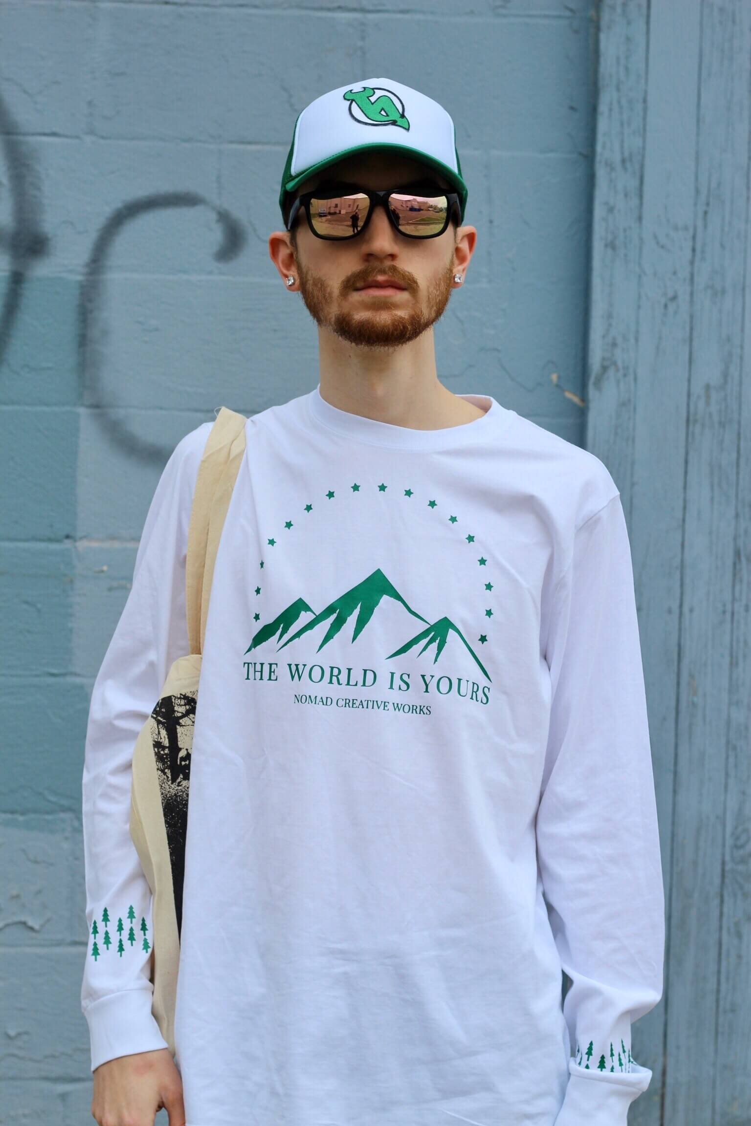 Aaron Seelig for Nomad Creative Works featuring the Mountain View Long Sleeve T-Shirt