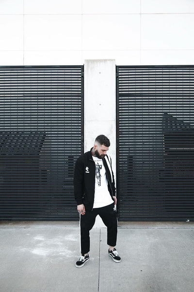 Nate Wood (woodreuax) styles the shori double striped jacket 4