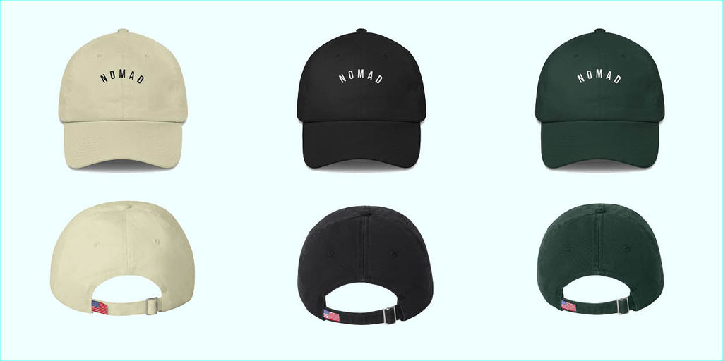 Nomad Dad Caps. All Colors. How to wear the Nomad Dad Cap. Travel and Streetwear blog by Nomad New York.