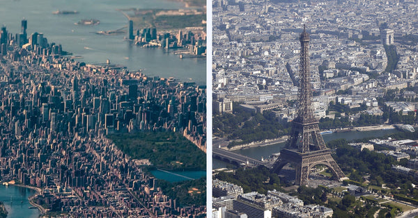 New York and Paris