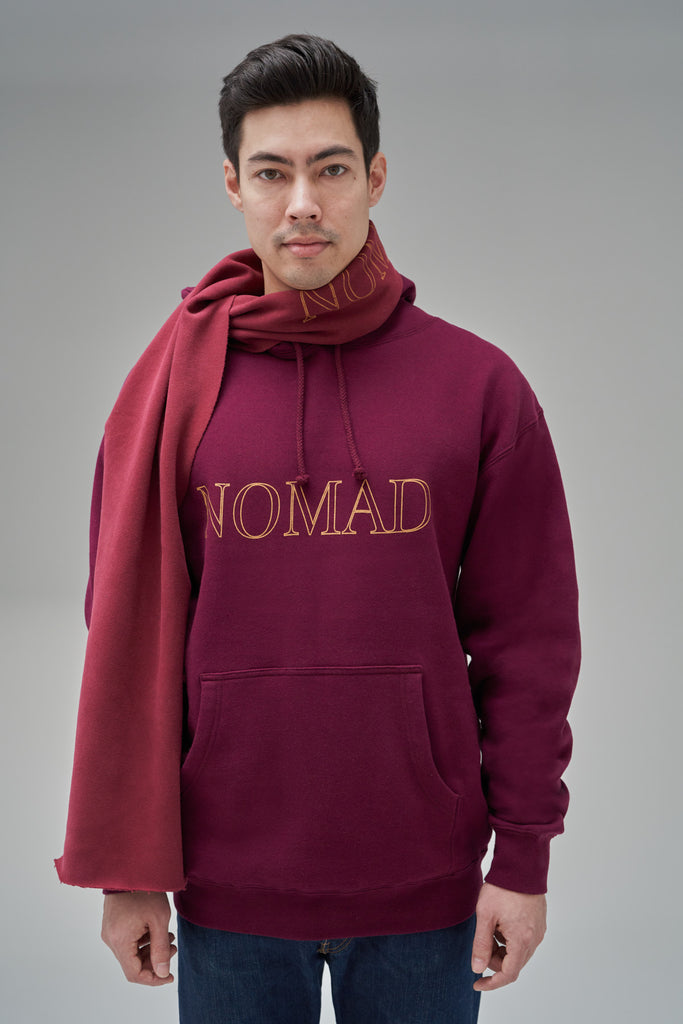 Nomad Fall 2020 Look 3 International Hoodie in Burgundy