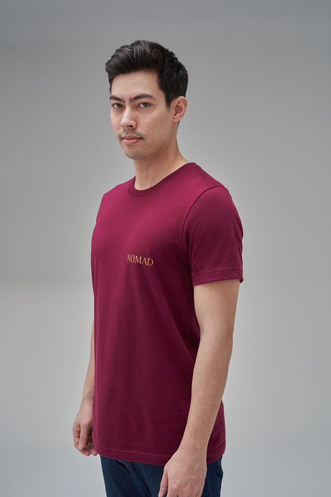 Nomad Fall 2020 Look 7 International T-Shirt in Burgundy