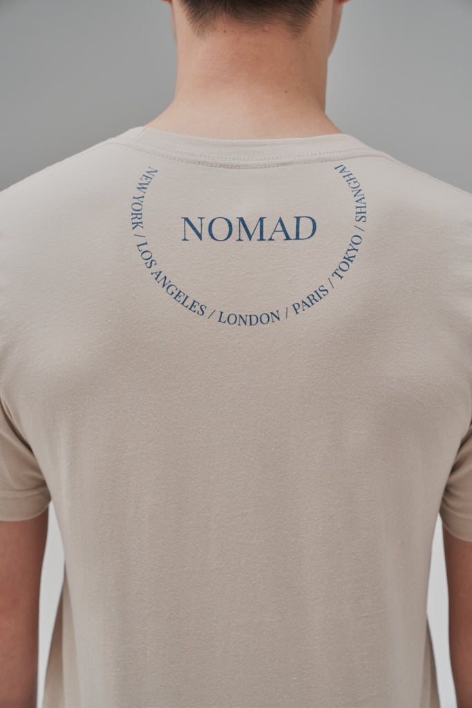 Nomad Fall 2020 Look 5 International T-Shirt in Sand (Back View)