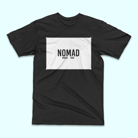 Nomad Patch Print Tee Front. Travel and Streetwear blog by Nomad New York.