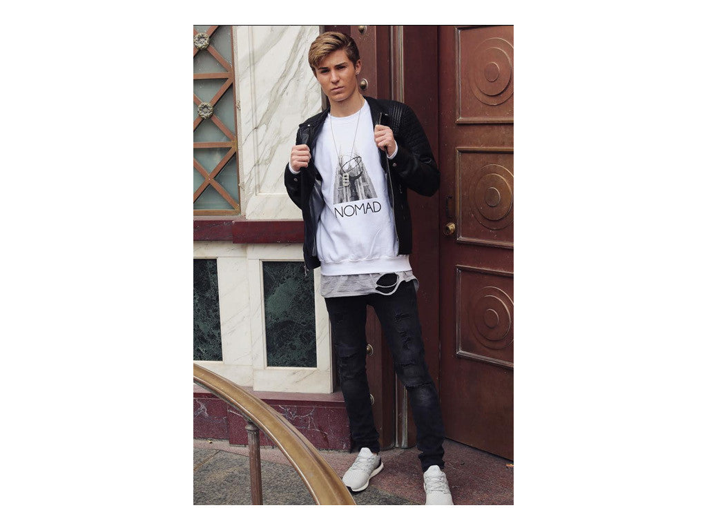 Matt Gregory wearing Nomad New York.Travel and Streetwear blog by Nomad New York.