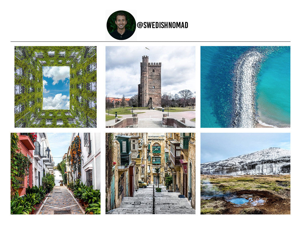 SwedishNomad's Instagram Page. 12 Travel Bloggers That Will Make You Want To Pack Everything And Go. Travel and Streetwear Blog by Nomad New York.