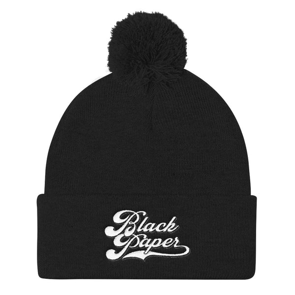 Hats - Beanie Ball Black Paper 4life